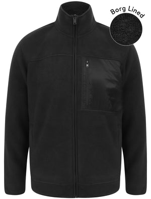 Lockport Borg Lined Bonded Fleece with Chest Pocket In Jet Black – Kensington Eastside
