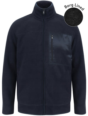 Lockport Borg Lined Bonded Fleece with Chest Pocket In Sky Captain Navy – Kensington Eastside