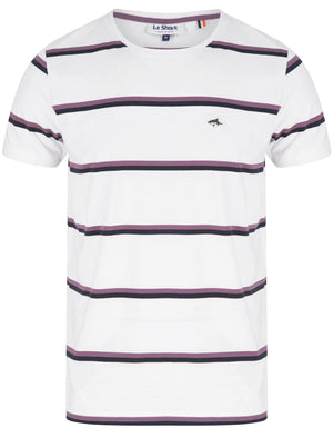 Joseph Striped Cotton Jersey T-Shirt in Optic White – Le Shark