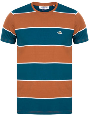Nolan Striped Cotton Jersey T-Shirt in Bisque – Le Shark