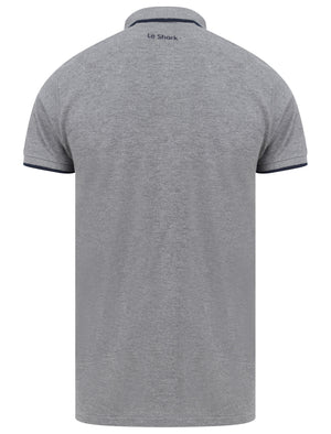 Midhurst 2 Tipped Cotton Pique Polo Shirt In Mid Grey Marl - Le Shark