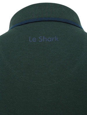 Midhurst 2 Tipped Cotton Pique Polo Shirt In Pine Grove - Le Shark