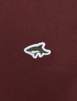 Mill 2 Cotton Pique Polo Shirt with Jacquard Collar In Port Royale - Le Shark
