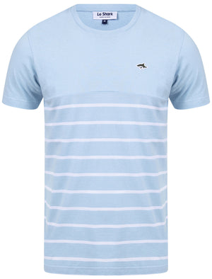 Minting Cotton Jersey Striped T-Shirt In Angel Falls Blue - Le Shark