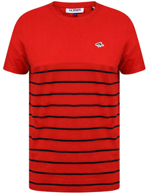 Minting Cotton Jersey Striped T-Shirt In Barados Cherry – Le Shark
