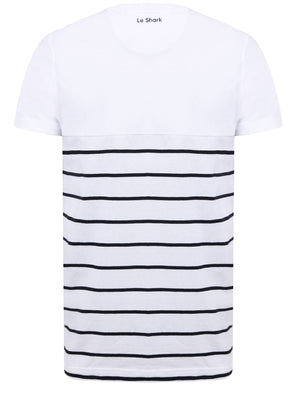 Minting Cotton Jersey Striped T-Shirt In Bright White – Le Shark