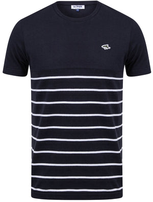 Minting Cotton Jersey Striped T-Shirt In Sky Captain Navy - Le Shark