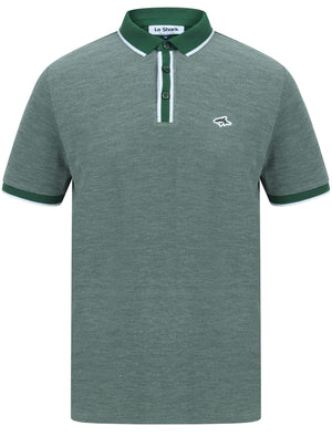Morrish 2 Cotton Marl Birdseye Pique Polo Shirt In Hunter Green - Le Shark
