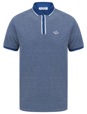 Morrish 2 Cotton Marl Birdseye Pique Polo Shirt In Limoges Blue - Le Shark