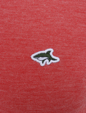 Morrish 2 Cotton Marl Birdseye Pique Polo Shirt In Scarlet Sage - Le Shark