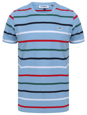 Orchardson Multi-colour Stripe Cotton Jersey T-Shirt In Allure Blue – Le Shark