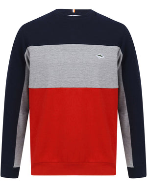 Overhill Colour Block Sweatshirt in Scarlet Sage – Le Shark