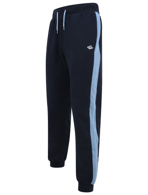 Padfield Cuffed Joggers with Coloured Side Panel Detail in Allure Blue - Le Shark