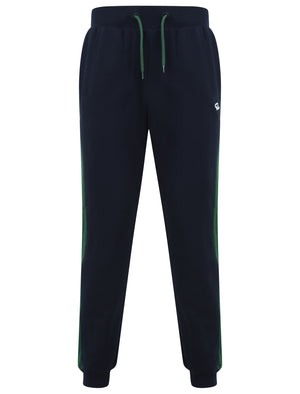 Padfield Cuffed Joggers with Coloured Side Panel Detail in Hunter Green - Le Shark