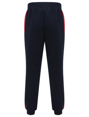 Padfield Cuffed Joggers with Coloured Side Panel Detail in Scarlet Sage - Le Shark