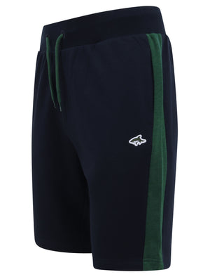 Parfett Jogger Shorts with Coloured Side Panel Detail in Hunter Green - Le Shark