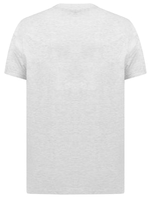 Sunset Bar Motif Cotton Jersey T-Shirt in Ice Grey Marl - South Shore