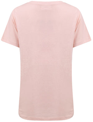 Sunsets Motif Cotton Crew Neck T-Shirt in English Rose – South Shore