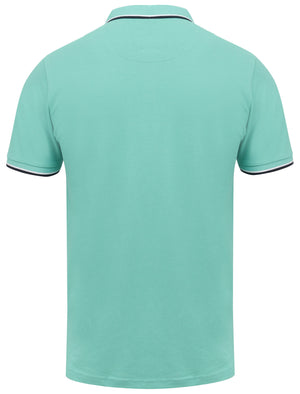 Rocky Bay Classic Cotton Pique Polo Shirt with Tipping In Mint - South Shore