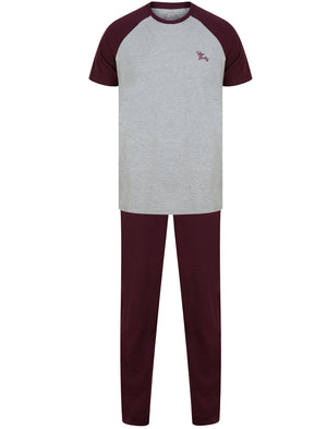 Advance 2pc Cotton Lounge Set in Light Grey Marl / Wine Tasting – Tokyo Laundry