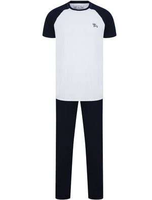 Advance 2pc Cotton Lounge Set in Optic White / Sky Captain Navy – Tokyo Laundry