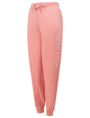 Banya Loopback Fleece Cuffed Joggers in Bridal Rose - Tokyo Laundry