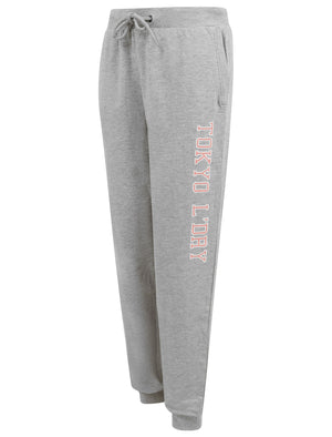 Banya Brushback Fleece Cuffed Joggers in Light Grey Marl - Tokyo Laundry