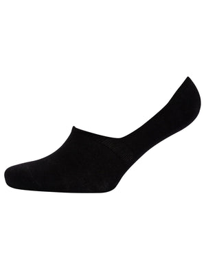 Liner Crowe (3 Pack) Basic Cotton Rich Footsie Socks in Black – Tokyo Laundry