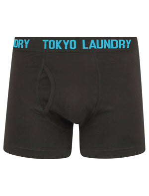 Booker (2 Pack) Boxer Shorts Set in Blue Atoll / Zinnia Orange – Tokyo Laundry