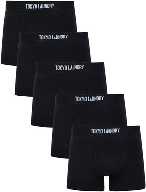 Clovelly (5 Pack) Cotton Sports Boxer Shorts Set in Jet Black – Tokyo Laundry