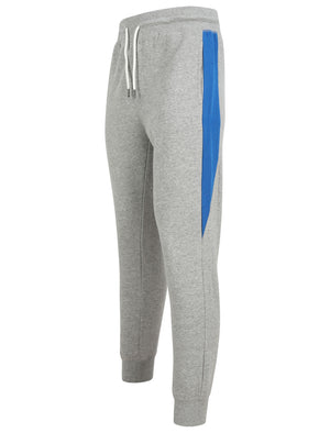 Diablo Pant Cuffed Joggers with Colour Block Side Panels In Light Grey Marl - Tokyo Laundry