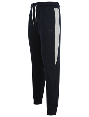 Diablo Pant Cuffed Joggers with Colour Block Side Panels In Sky Captain Navy - Tokyo Laundry