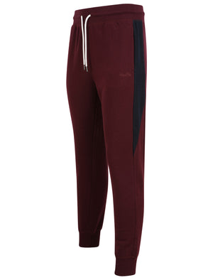 Diablo Pant Cuffed Joggers with Colour Block Side Panels In Winetasting - Tokyo Laundry