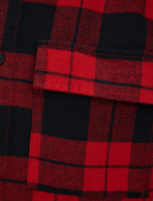 Dunham Heavy Cotton Twill Checked Over Shirt In Chilli Pepper Check – Tokyo Laundry