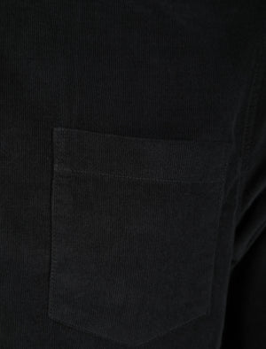 Erskine Corduroy Cotton Long Sleeve Shirt In Jet Black – Tokyo Laundry