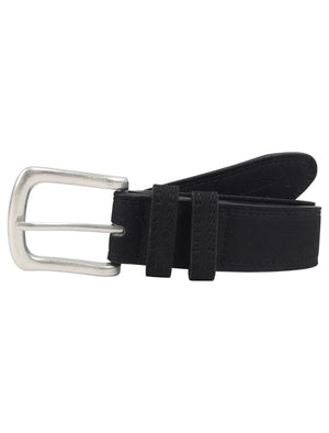 George Suede Effect Faux Leather Belt in Black - Tokyo Laundry