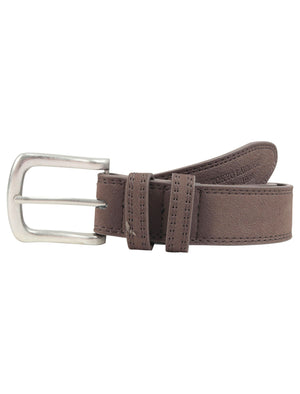 George Suede Effect Faux Leather Belt in Brown - Tokyo Laundry