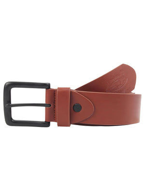 Gordon Faux Leather Belt with Matt Buckle in Tan - Tokyo Laundry