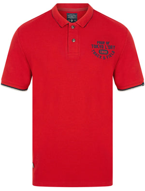 Herstmonceux Cotton Pique Polo Shirt In Red Dahlia – Tokyo Laundry