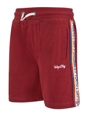 Boys Malibu Surf Brushback Fleece Jogger Shorts in Merlot Marl – Tokyo Laundry Kids