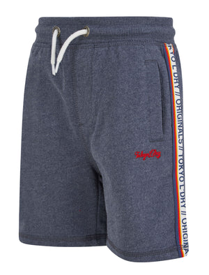 Boys Malibu Surf Brushback Fleece Jogger Shorts in Mood Indigo Marl – Tokyo Laundry Kids
