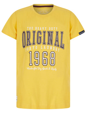 Boys Original 68 Motif Cotton T-Shirt in Mimosa Yellow – Tokyo Laundry Kids