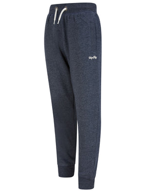 Boys Peckham Brushback Fleece Cuffed Joggers in Dark Navy Marl - Tokyo Laundry Kids