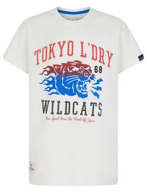 Boys Wildcats 68 Motif Cotton T-Shirt in Snow White – Tokyo Laundry Kids