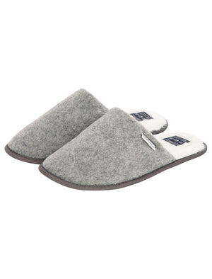 Knightly Mule Slippers with Faux Fur Lining in Grey – Tokyo Laundry
