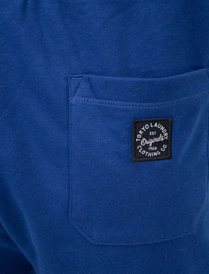 Lauderdale Brush Back Fleece Jogger Shorts in Sea Surf Blue - Tokyo Laundry