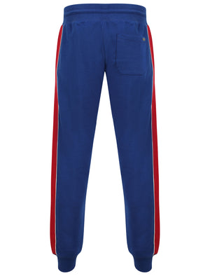 Limbus Pant Cuffed Joggers with Colour Block Side Panels In Sodalite Blue - Tokyo Laundry
