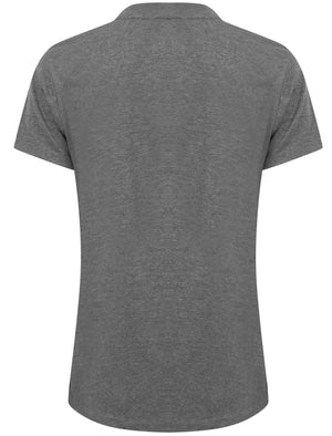 Linda Cotton Crew Neck T-Shirt in Mid Grey Marl – Tokyo Laundry
