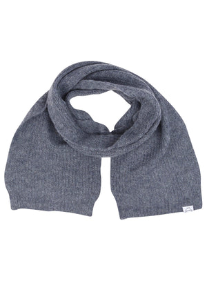 Women's Misty Brushed Wool Blend Cable Knitted Scarf in Blue – Tokyo Laundry