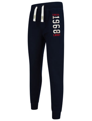 Nayfield Brushback Fleece Cuffed Joggers in Sky Captain Navy – Tokyo Laundry